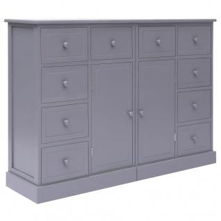 vidaXL Sideboard mit 10 Schubladen Grau 113×30×79 cm Holz