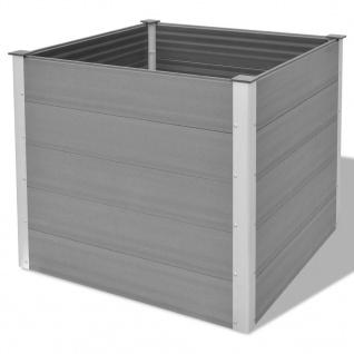 vidaXL Garten-Hochbeet WPC 100x100x91 cm Grau