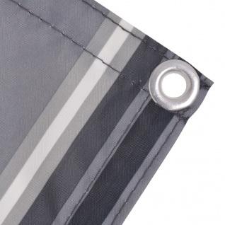 vidaXL Balkonsichtschutz Oxford-Gewebe 90 x 600 cm Grau Gestreift - Vorschau 3