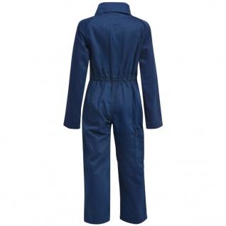 vidaXL Kinder Arbeitsoverall Größe 98/104 Blau - Vorschau 4