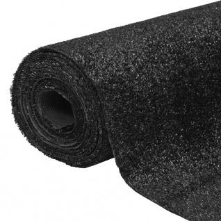 vidaXL Kunstrasen 1 x 5 m / 7 - 9 mm Schwarz