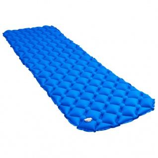 vidaXL Aufblasbare Isomatte 58x190 cm Blau