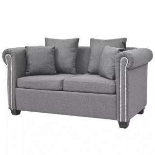 vidaXL 2-Sitzer-Sofa Stoff 143 x 75 x 73 cm Hellgrau