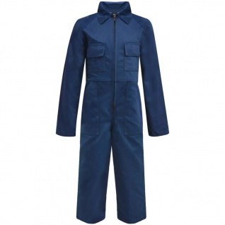 vidaXL Kinder Arbeitsoverall Größe 110/116 Blau