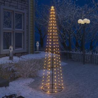 vidaXL Weihnachtskegelbaum 136 Warmweiße LEDs Dekoration 70x240 cm