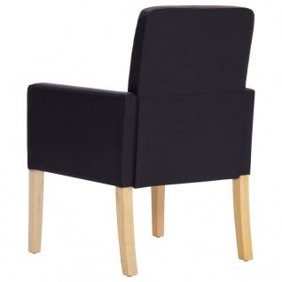 vidaXL Esszimmerstühle 4 Stk. Dunkelbraun Kunstleder - Vorschau 5