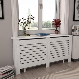 vidaXL Heizkörperabdeckung Weiß 172×19×81, 5 cm MDF