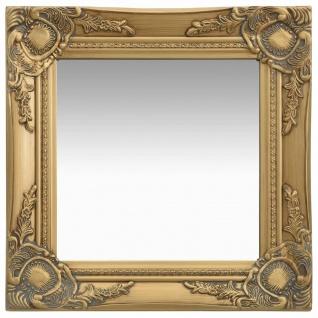 vidaXL Wandspiegel im Barock-Stil 40x40 cm Golden