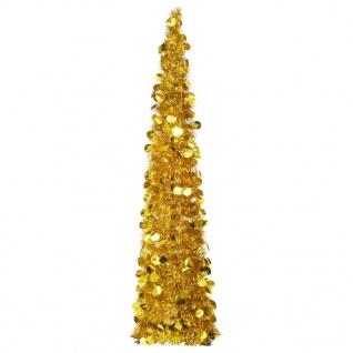 vidaXL Künstlicher Pop-Up-Weihnachtsbaum Golden 150 cm PET