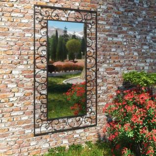 vidaXL Garten-Wandspiegel Rechteckig 60 x 110 cm Schwarz