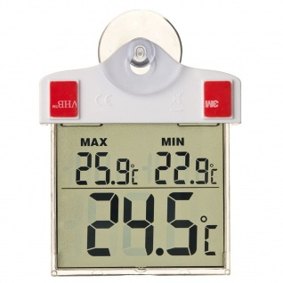 Nature Digitales Fensterthermometer 13x10x3 cm 6080078