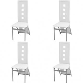 vidaXL Esszimmerstühle 4 Stk. Kunstleder Weiß