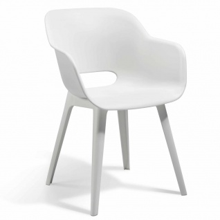 Allibert Gartenstühle Akola 2 Stk. Weiß