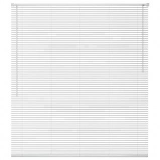 vidaXL Fensterjalousien Aluminium 100x130 cm Weiß