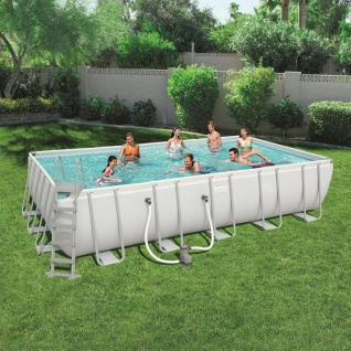 Bestway Power Steel Swimmingpool-Set Rechteckig 671×366×132 cm 56470