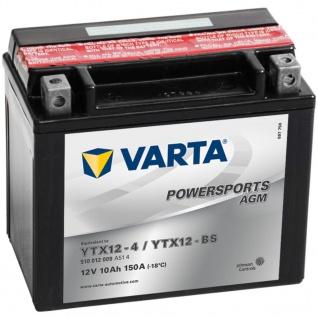 VARTA Powersports Motorradbatterie AGM YTX12-4/YTX12-BS - Vorschau 1