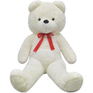 XXL Weicher Plüsch-Teddybär Weiß 175 cm - Vorschau 3