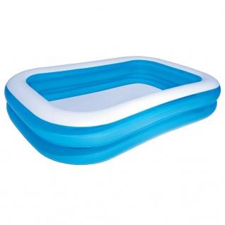 Bestway Aufblasbarer Pool Blau/Weiß 262×175×51 cm 54006