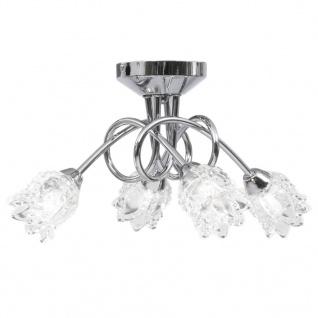 vidaXL Deckenleuchte mit Glas-Lampenschirmen für 4 G9 Leuchtmittel - Vorschau 2