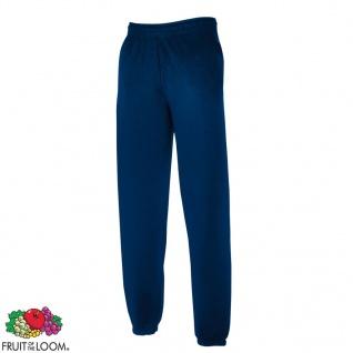 Fruit of the Loom Sweat Pants Elastische Bündchen Marineblau XL