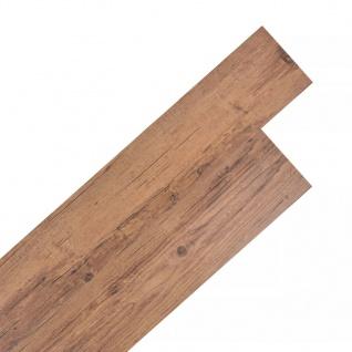 vidaXL PVC Laminat Dielen Selbstklebend 5, 02 m² 2 mm Walnuss-Braun