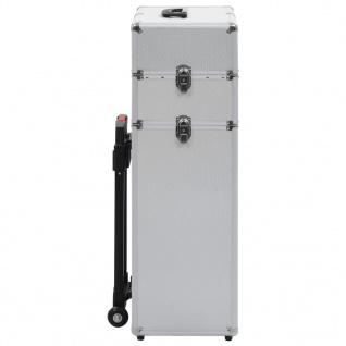 vidaXL Kosmetikkoffer Aluminium Silbern - Vorschau 4