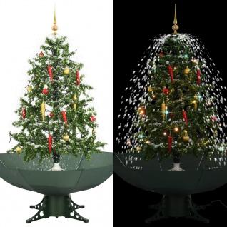 vidaXL Schneiender Weihnachtsbaum mit Schirmfuß Grün 140 cm