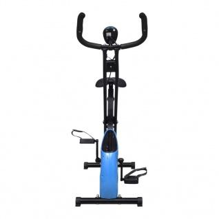 vidaXL Magnetischer Heimtrainer X-Bike mit Pulsmessung Schwarz Blau - Vorschau 2