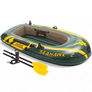 Intex Seahawk 2 Schlauchboot-Set mit Rudern und Pumpe 68347NP