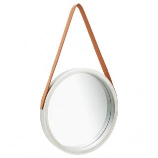 vidaXL Wandspiegel mit Riemen 40 cm Silbern