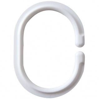 RIDDER Duschvorhangringe Weiß 49301