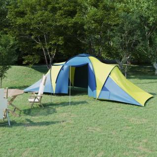 vidaXL Campingzelt 6 Personen Blau und Gelb