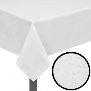 5 Tischdecken Weiß 100 x 100 cm