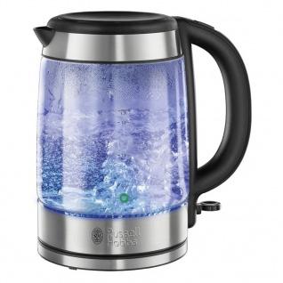 Russell Hobbs Glas-Wasserkocher Silbern 2000 W 1, 7 L