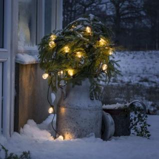 KONSTSMIDE Party-Lichterkette mit 20 Klaren Ovalen Lampen Extra-Warm
