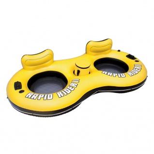 Bestway Rapid Rider II Aufblasbarer Schwimmring für 2 Personen 43113