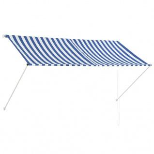 vidaXL Einziehbare Markise 250 x 150 cm Blau und Weiß
