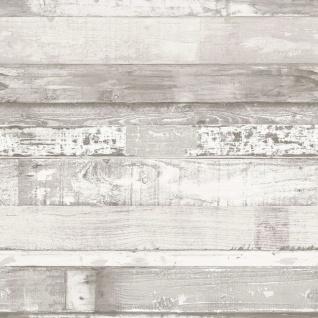 Homestyle Tapete Wood Cremeweiß und Grau