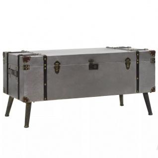 vidaXL Couchtisch MDF und Aluminium 102 x 51 x 47, 5 cm