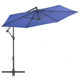 vidaXL Ampelschirm mit Alu-Mast 300 cm Blau
