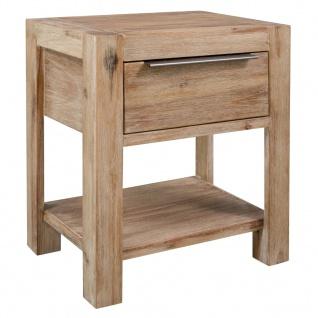 vidaXL Nachttisch mit Schublade 40x30x48 cm Masivholz Akazie