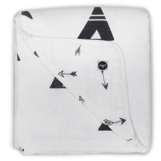 Jollein Babydecke Musselin 120x120 cm Schwarz-Weiß 521-557-65081