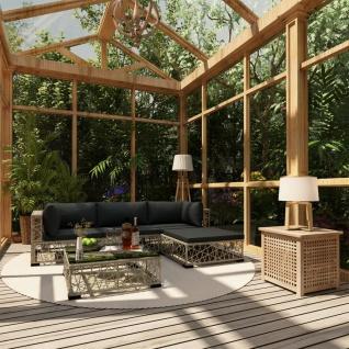 Vidaxl 6 Tlg Garten Lounge Set Mit Auflagen Poly Rattan Braun Kaufen Bei Vida Xl Europe B V