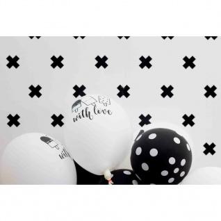 Fabulous World Tapete Cross Weiß und Schwarz 67104-6 - Vorschau 2