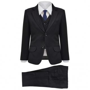 vidaXL Jungen-Anzug 3-tlg. Größe 128/134 Schwarz
