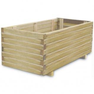 vidaXL Hochbeet 100x50x40 cm Holz Rechteckig