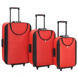 vidaXL Weichgepäck Trolley-Set 3-tlg. Rot Oxford-Gewebe