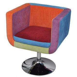 vidaXL Würfel-Sessel mit Patchwork-Design Stoff