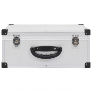 vidaXL CD-Koffer für 60 CDs Aluminium ABS Silbern - Vorschau 3
