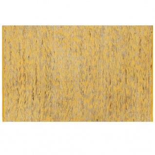vidaXL Teppich Handgefertigt Jute Gelb und Natur 80x160 cm
